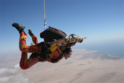 skydiving, Africa, Namibia, plane, tandem skydiving